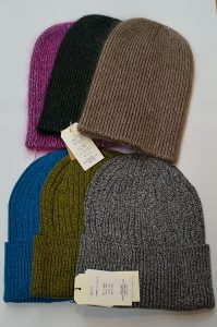 カラフルなシルクニット帽